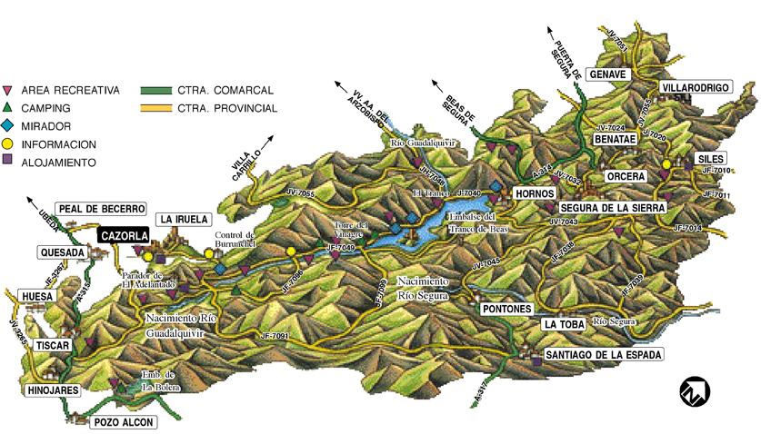 Sierra De Cazorla Y Segura Mapa.Que Ver En El Parque Natural Sierras De Cazorla En 4 Dias