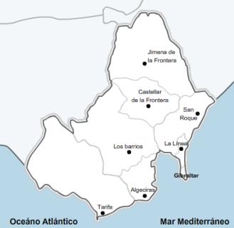 Campo De Gibraltar Mapa.El Campo De Gibraltar Y La Bahia De Algeciras En 6 Dias